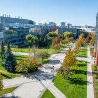 Arial view of Health Sciences Spokane campus.