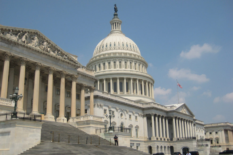 Exterior of the U.S. Capitol Building.