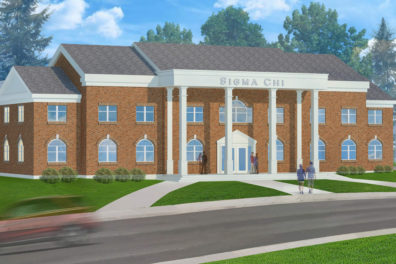 Artist rendering of the new Sigma Chi fraternity house