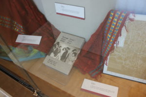 Ethiopian scarf, vintage Addis Ababa book and framed picture of Addis Ababa roads