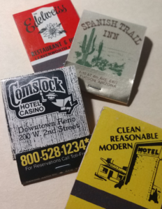 Matchbooks collected on road trips
