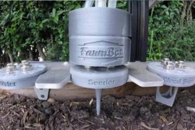 A FarmBot robotic gardening system