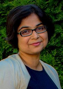 Closeup of Amrita Lahiri