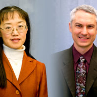 Closeups of Katie Zhong and John McCloy.