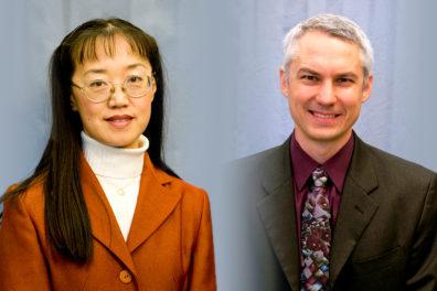 Closeups of Katie Zhong and John McCloy.