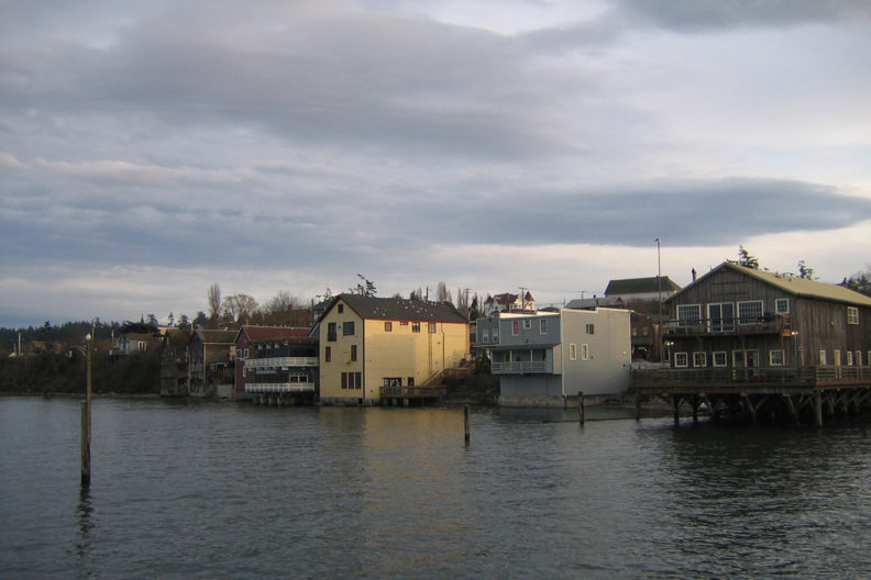 The waterfront of Coupeville, Washington.