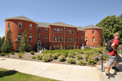 A photo of the Edward R. Murrow College of Communication building