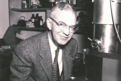 Closeup of physicist Paul Anderson