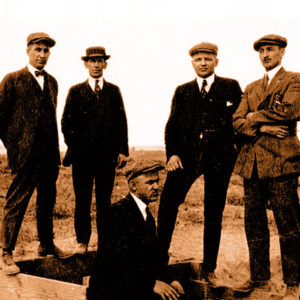 A 1919 photo of scientists at WSU's Prosser research station.