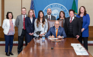 Governor Jay Inslee at a bill signing.