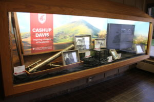 An exhibit of James Davis' artifacts.