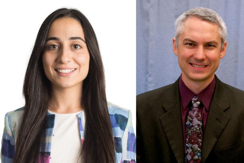 Closeup of Idil Akin and John McCloy