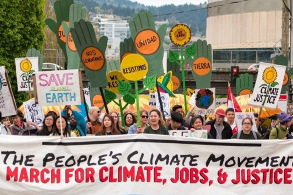 A climate march in San Francisco