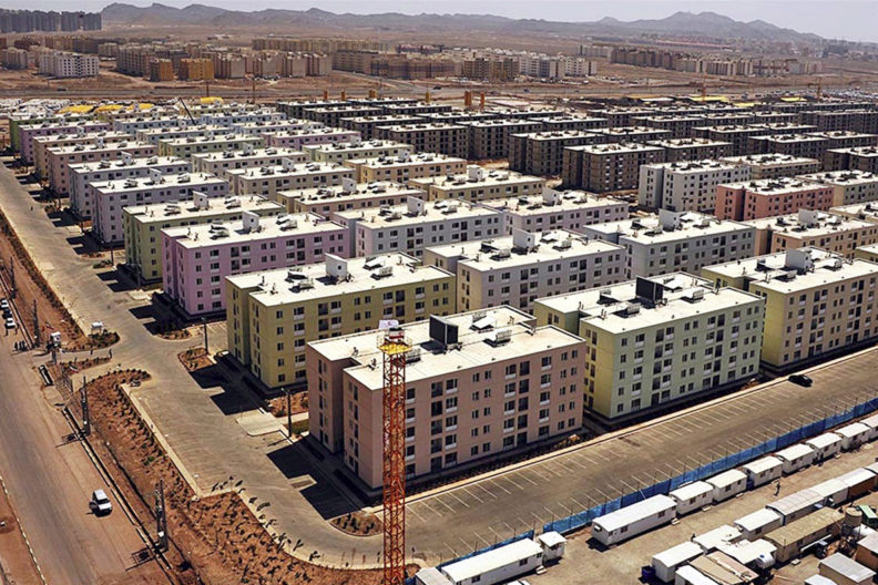 The Mehr housing project in Parand, Iran.
