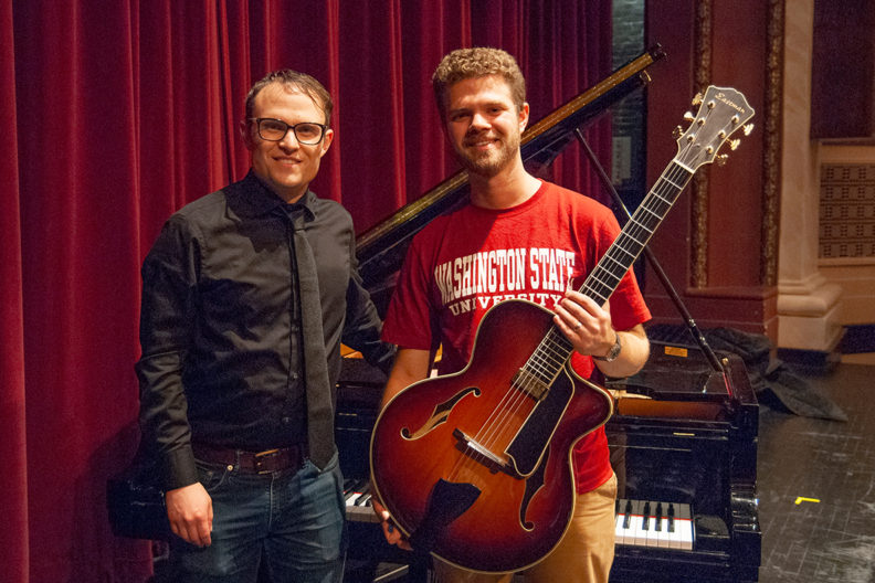 Pianist Jake Svendsen and guitarist Gabe Condon.