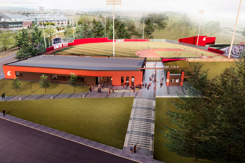 Rendering of the future Cougar Baseball Facility Project.