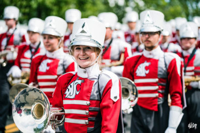 Members of the Cougar Marching Band.
