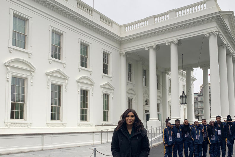 Savanna Navarro Kresse at the White House in Washington, D.C.