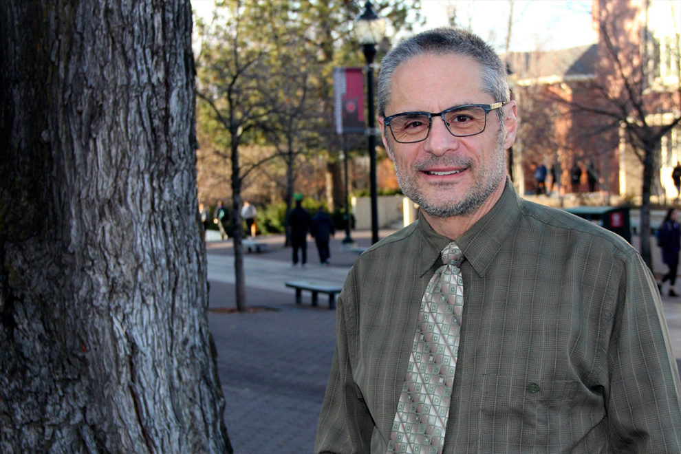 Closeup of Jeff Joireman on the WSU Pullman campus.