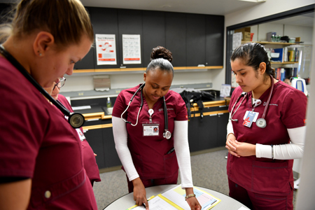 A group of nursing students.
