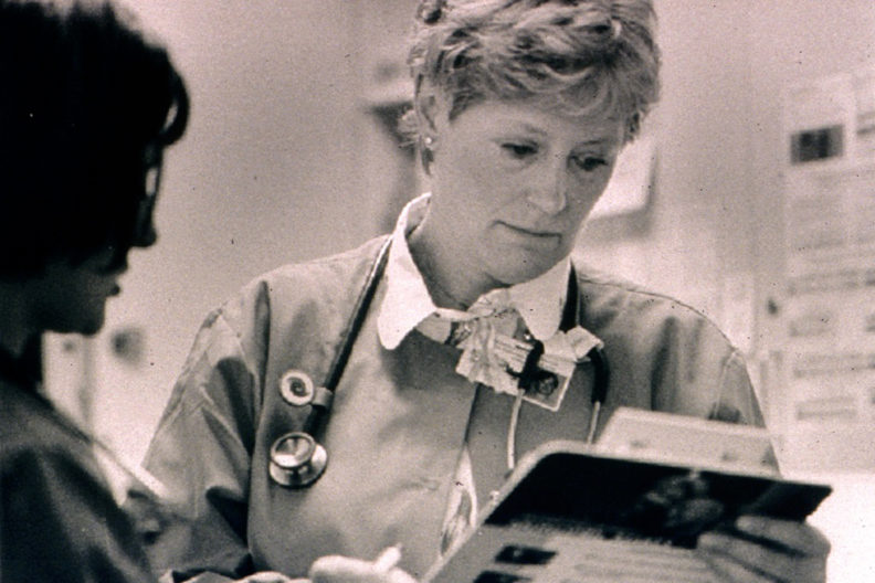 People's Clinic co‑founder Margaret Bruya at the clinic in an undated photo.