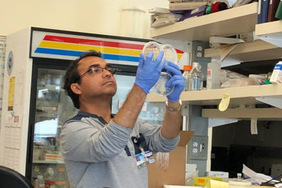 Anirban Roy in the laboratory