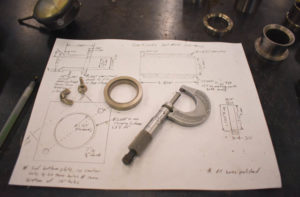 Sketch of a project and measuring tool.