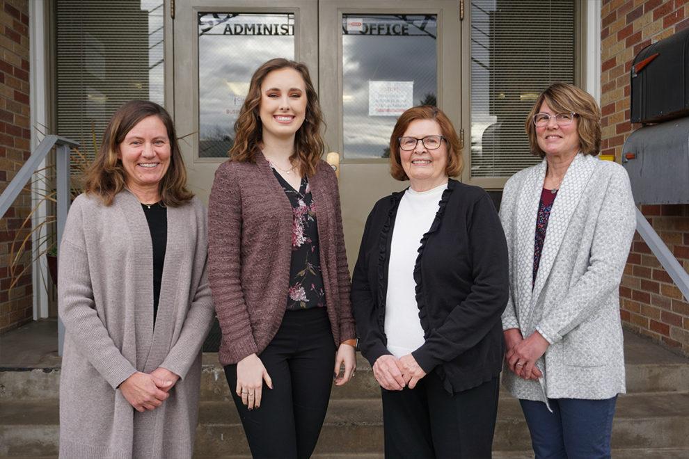 From left, Kathy Herrmann, Sydney Sewell, Sandra Hayes, and Susan Clark.