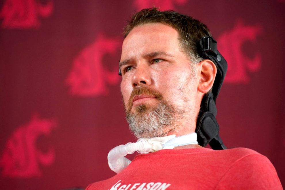 Closeup of Steve Gleason.