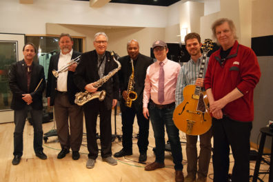 Members of Jazz Northwest pose for a picture.