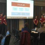 Students present at the NWCCC competition in Seattle.