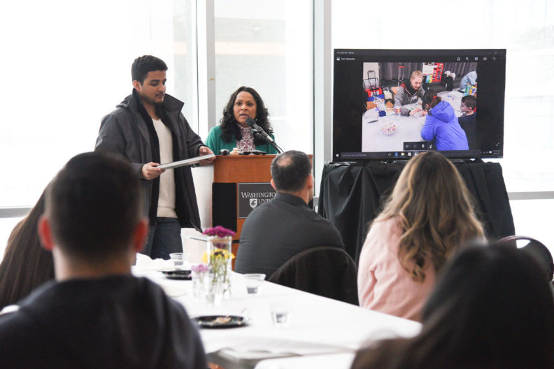 A student presents at a previous National TRIO Day celebrations in the Tri-Cities.