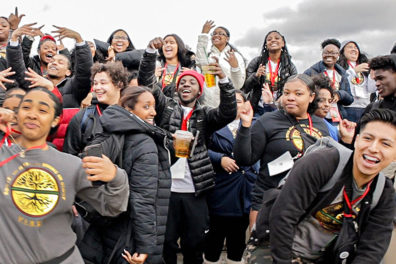 A large group of high school students gathered for the VIBES Conference.