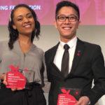 Closeup of Jordan Graham and Nam Nguyen