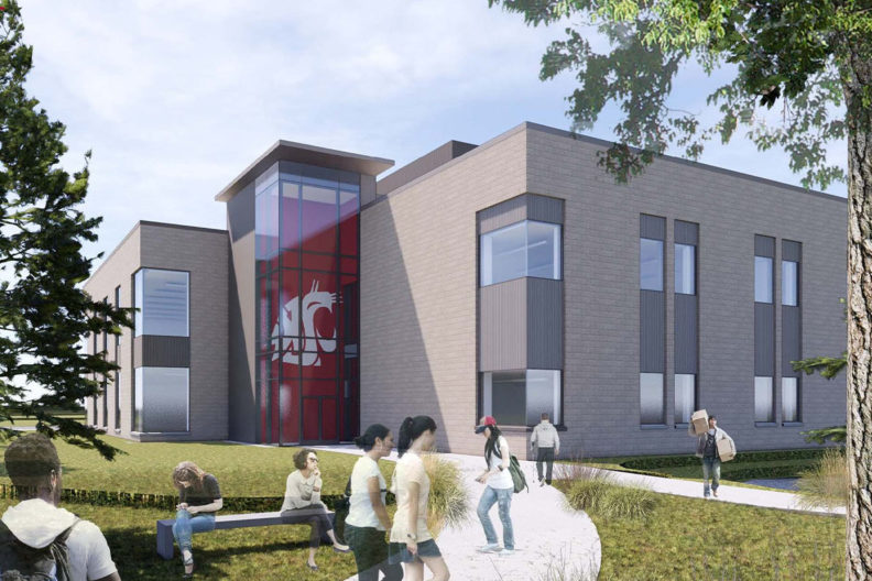The proposed design for WSU Tri-Cities new $30 million academic building