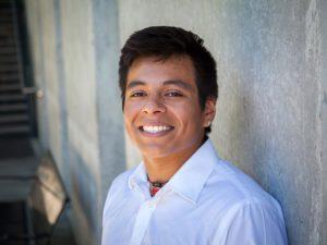 Closeup of Vince Chavez