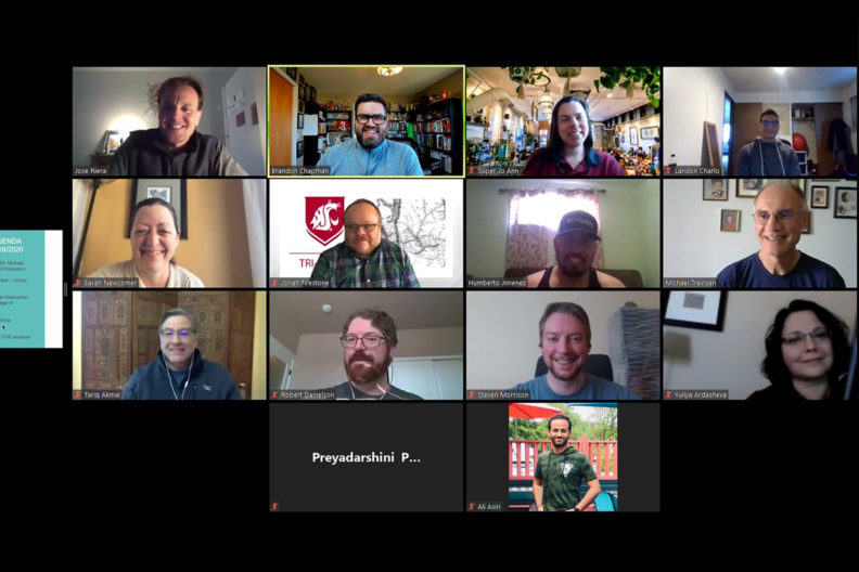 A picture of a Zoom meeting