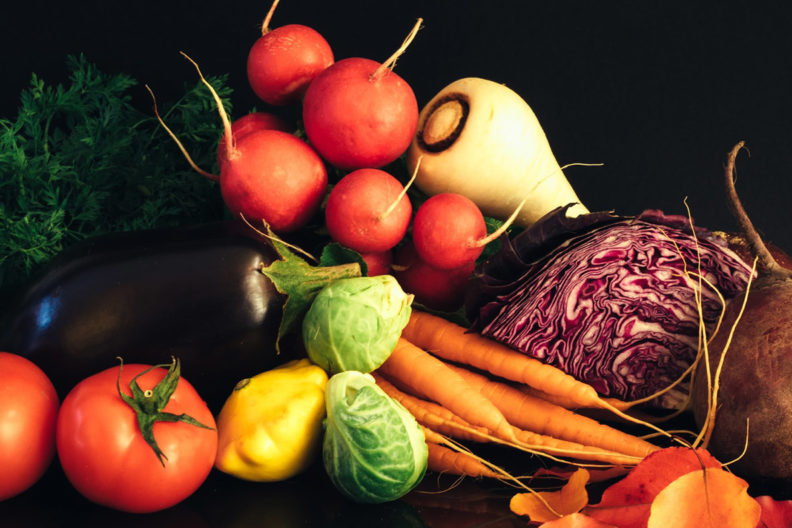 An assortment of fresh vegetables.