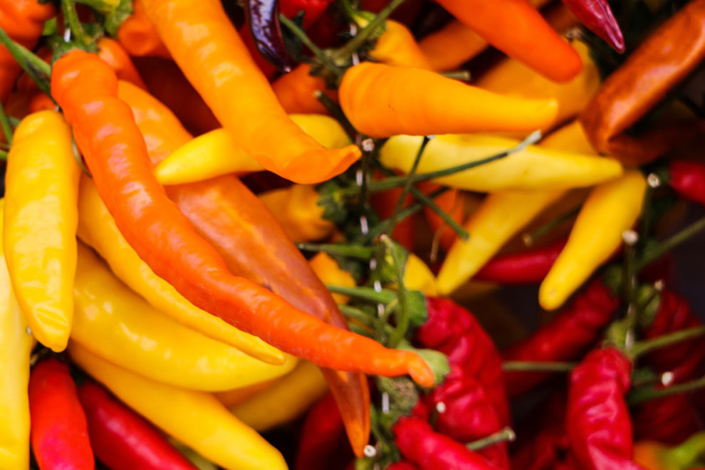 Various kinds of peppers.