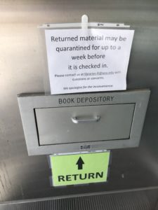 Book drop outside of Terrell Library.
