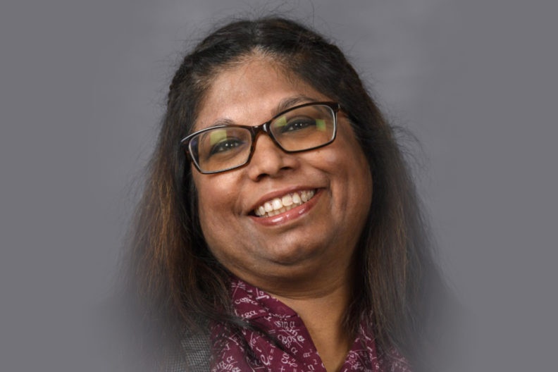 "Closeup of Nairanjana ""Jan"" Dasgupta."