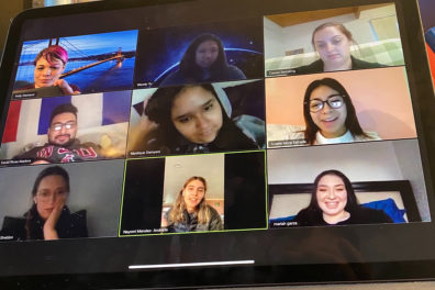 People have a meeting on Zoom