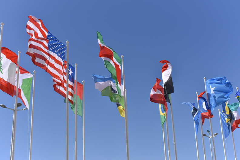 Flags from various countries.