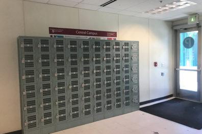 A row of lockers