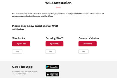 A preview of the WSU Attestation website.