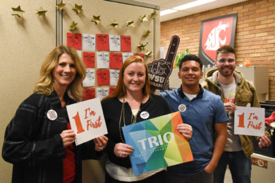 group of four people in the TRIO program