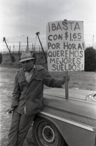 A protestor at a hope strike in 1970.