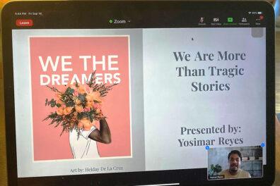 Yosimar Reyes gives a virtual presentation