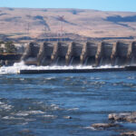 A dam on the Columbia river.