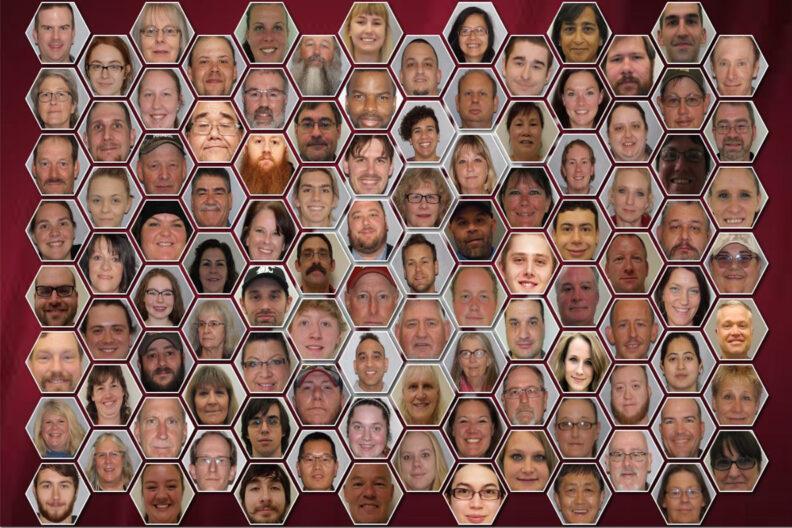 Individual closeups of Facility Services Custodial employees.